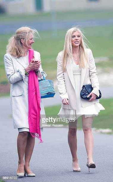 Prince Harry's girlfriend Chelsy Davy and his exnanny Tiggy LeggeBourke attend his pilot course graduation at the Army Aviation Centre on May 7 2010...