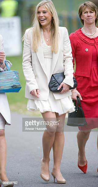 Prince Harry's girlfriend Chelsy Davy attends his pilot course graduation at the Army Aviation Centre on May 7 2010 in Andover England