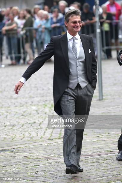 Prince Heinrich of Hanover uncle of Ernst August jr and brother of Prince Ernst August of Hanover during the wedding of Prince Ernst August of...