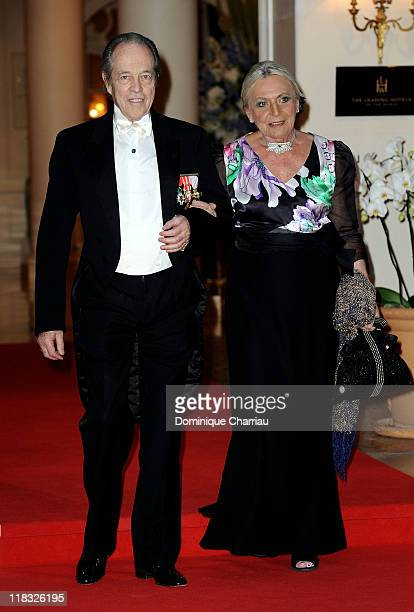 Prince Henri of Orléans Count of Paris Duke of France and Princess Mickaela attend the official dinner and firework celebrations at the Opera...