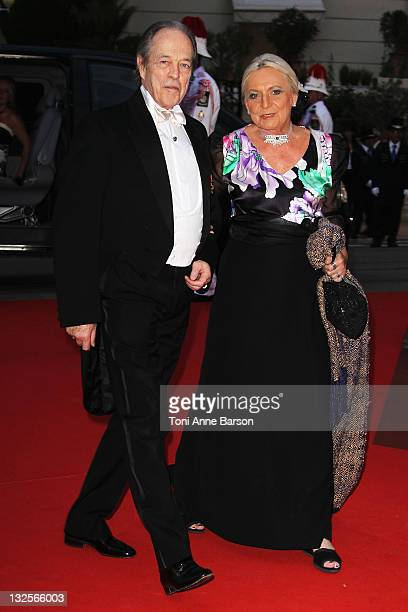 Prince Henri of Orleans Count of Paris Duke of France attends the official dinner and firework celebrations at the Opera Terraces after the religious...