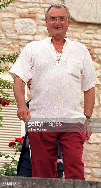 Prince Henrik attends a Photocall at his Summer House Chateau de Cayx in Luzech on August 7 in Luzech France