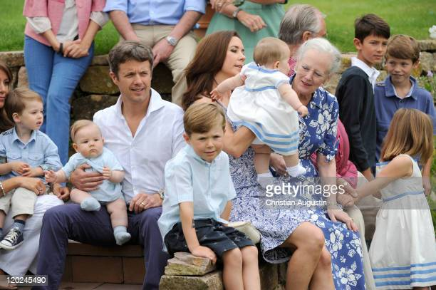 Prince Henrik Carl Joachim Alain Crown Prince Frederik of Denmark and twin Vincent Frederik Minik Alexander Prince Christian Crown Princess Mary of...