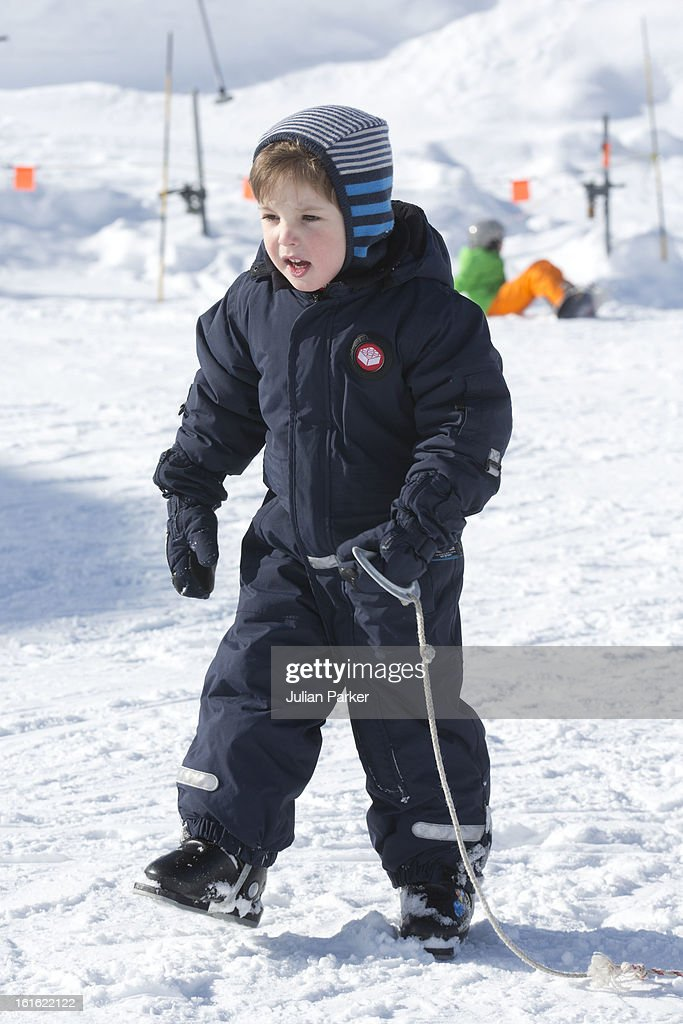 Prince Henrik of Denmark pose's during an annual family skiing holiday on February 13, 2013 in Villars-sur-Ollon, Switzerland.