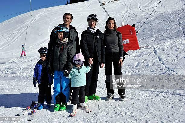 Prince Henrik of Denmark, Prince Felix of Denmark, Prince Joachim of Denmark, Princess Athena of Denmark, Prince Nikolai of Denmark and Princess...