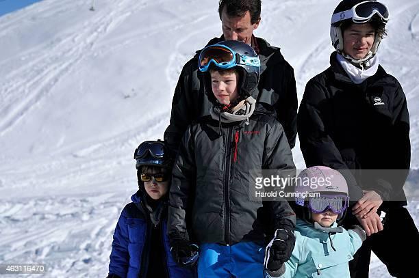 Prince Henrik of Denmark Prince Felix of Denmark Princess Athena of Denmark and Prince Nikolai of Denmarkattend the Danish Royal family annual skiing...