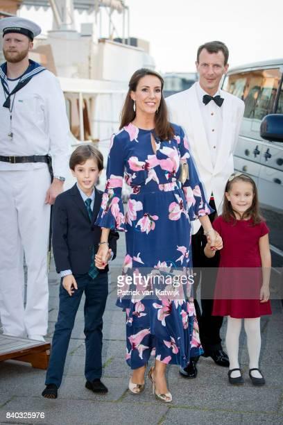 Prince Henrik of Denmark Princess Marie of Denmark Prince Joachim of Denmark and Princess Athena of Denmark attend the 18th birthday celebration of...
