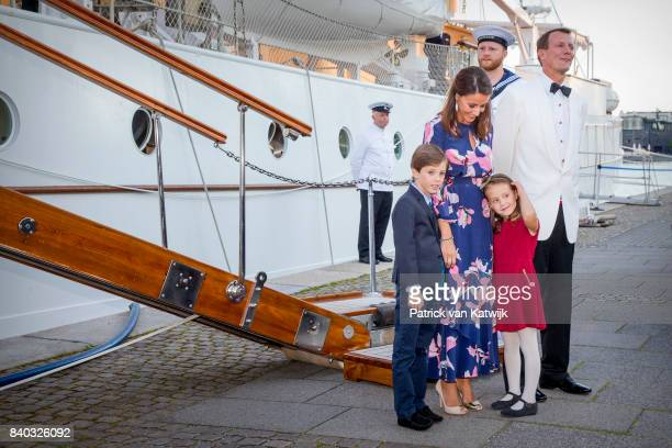 Prince Henrik of Denmark Princess Marie of Denmark Prince Joachim of Denmark and Princess Athena of Denmark attend the 18th birthday celebration of...