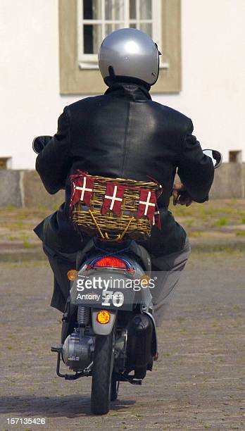 Prince Henrik Of Denmark Rides On His New Scooter In The Grounds Of Fredensborg Palace On His 70Th Birthday