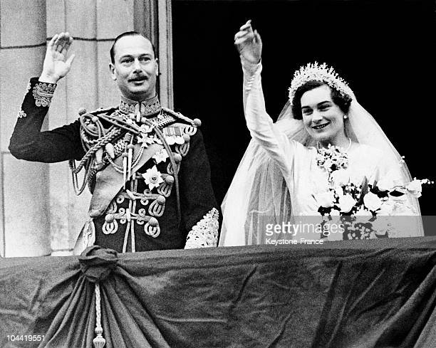 Prince Henry, Duke Of Gloucester, Son Of King George V, And His New Wife Alice, Duchess Of Gloucester, Born Montaigu-Douglas-Scott Greeting The Crowd...