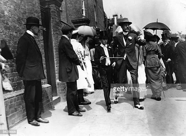 Prince Henry William Fredrick Albert future Duke of Gloucester with Lord Chesterfield at the Eton and Harrow cricket match