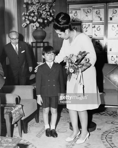 Prince Hiro aka Crown Prince Naruhito of Japan meets Queen Homaira of Afghanistan during her State Visit to Japan April 1969