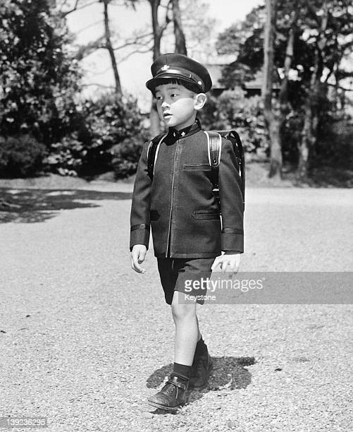 Prince Hiro aka Prince Naruhito of Japan on his way to Gakushuin Primary School in Tokyo 25th April 1966