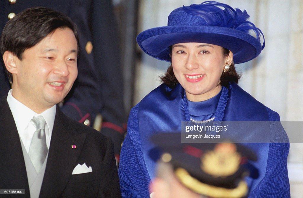 Prince Hiro and Princess Masako leaving St Michel Ste Gudule Cathedral.