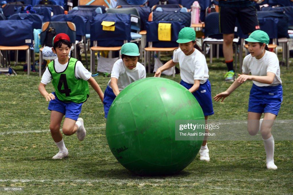 Prince Hisahito Participates In Sports Festival