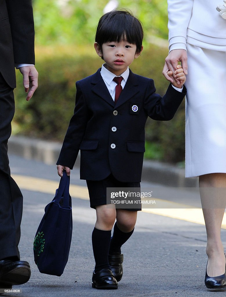Prince Hisahito (C), the grandson of the : News Photo
