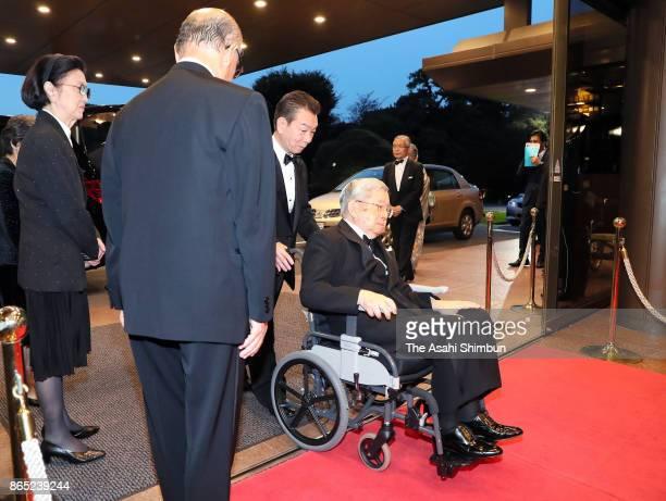 Prince Hitachi attends the Praemuim Imperiale Award Ceremony at Meiji Kinenkan on October 18, 2017 in Tokyo, Japan.