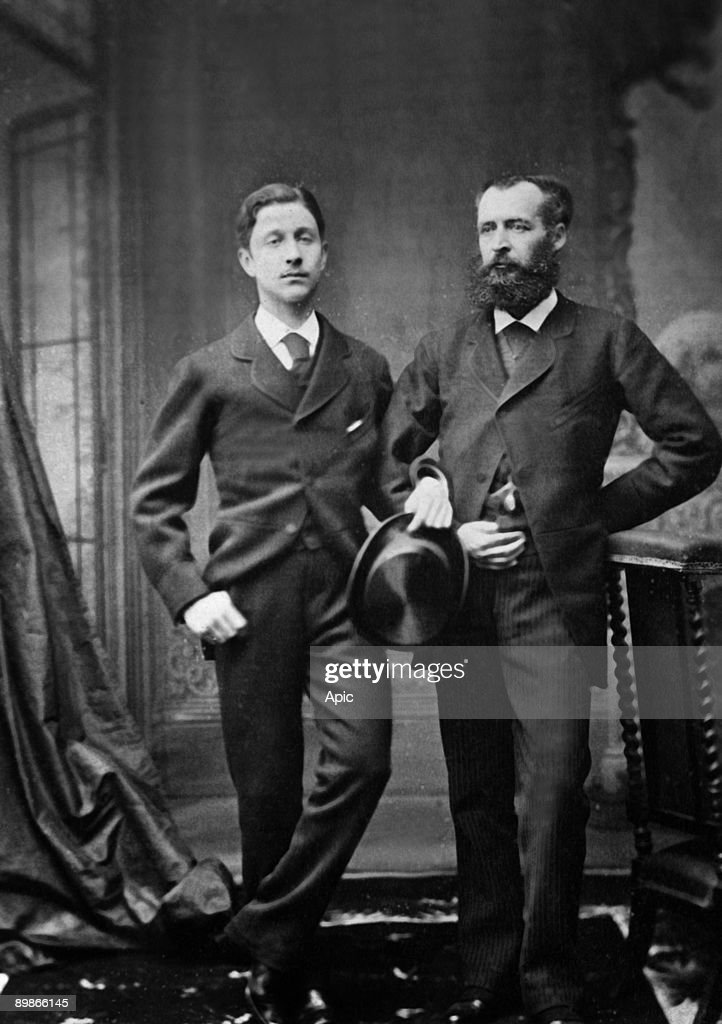 Prince Imperial Louis Napoleon (1856 -1879) and Count Clary in 1875 : News Photo