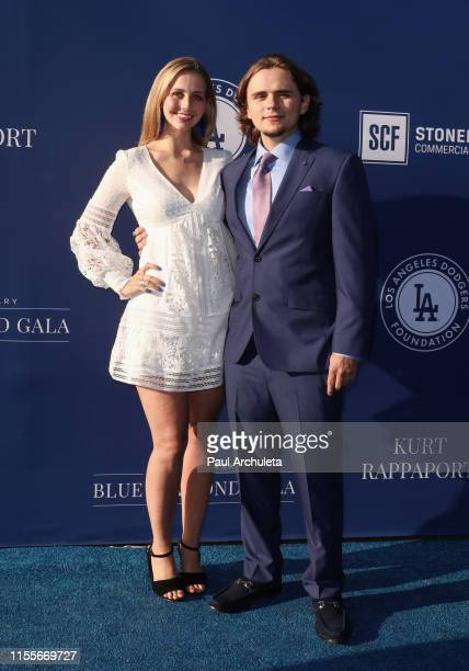 Prince Jackson and Molly Schirmang attend the 5th Annual Blue Diamond Foundation at Dodger Stadium on June 12 2019 in Los Angeles California