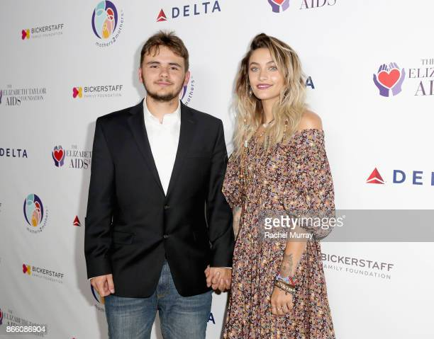 Prince Jackson and Paris Jackson attend The Elizabeth Taylor AIDS Foundation and mothers2mothers dinner at Ron Burkle's Green Acres Estate on October...