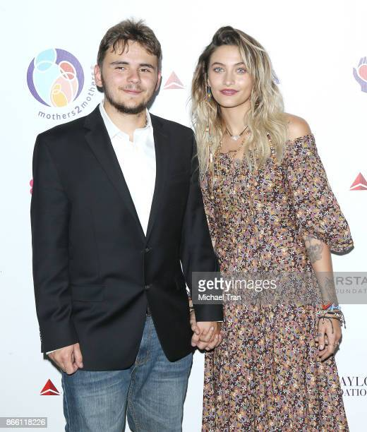 Prince Jackson and Paris Jackson attend the mothers2mothers and ETAF event held on October 24 2017 in Beverly Hills California