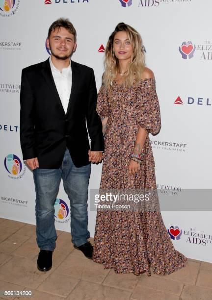 Prince Jackson and Paris Jackson attend the mothers2mothers and The Elizabeth Taylor AIDS Foundation Benefit Dinner on October 24 2017 in Beverly...