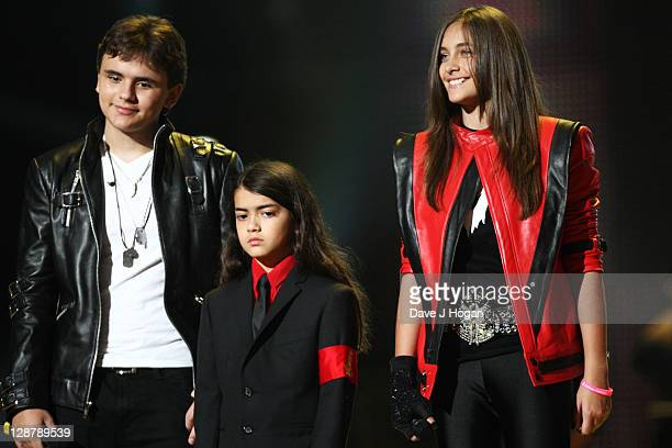 Prince Jackson Blanket Jackson and Paris Jackson appear onstage at the 'Michael Forever' concert to remember the late Michael Jackson at The...
