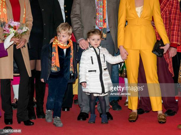 Prince Jacques and Princess Gabriella attend the 43rd International Circus Festival of MonteCarlo on January 20 2019 in Monaco Monaco