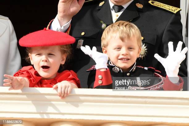 Prince Jacques of Monaco and Princess Gabriela of Monaco attend the Monaco National Day on November 19, 2019 in Monte-Carlo, Monaco.