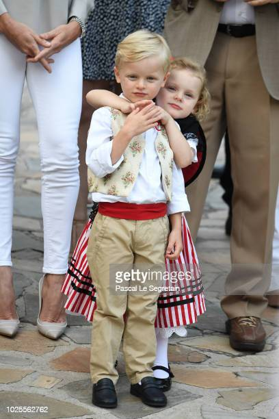 Prince Jacques of Monaco and Princess Gabriella of Monaco attend the Monaco annual picnic on August 31, 2018 in Monaco Monaco.