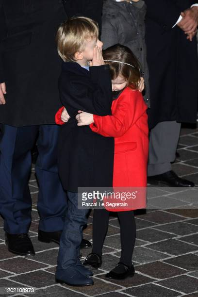Prince Jacques of Monaco and Princess Gabriella of Monaco attend the Sainte Devote Ceremony. Sainte devote is the patron saint of The Principality Of...