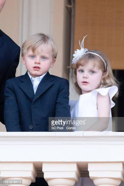 Prince Jacques of Monaco and Princess Gabriella of Monaco attend the Fete de la Saint Jean on June 23, 2020 in Monaco, Monaco.