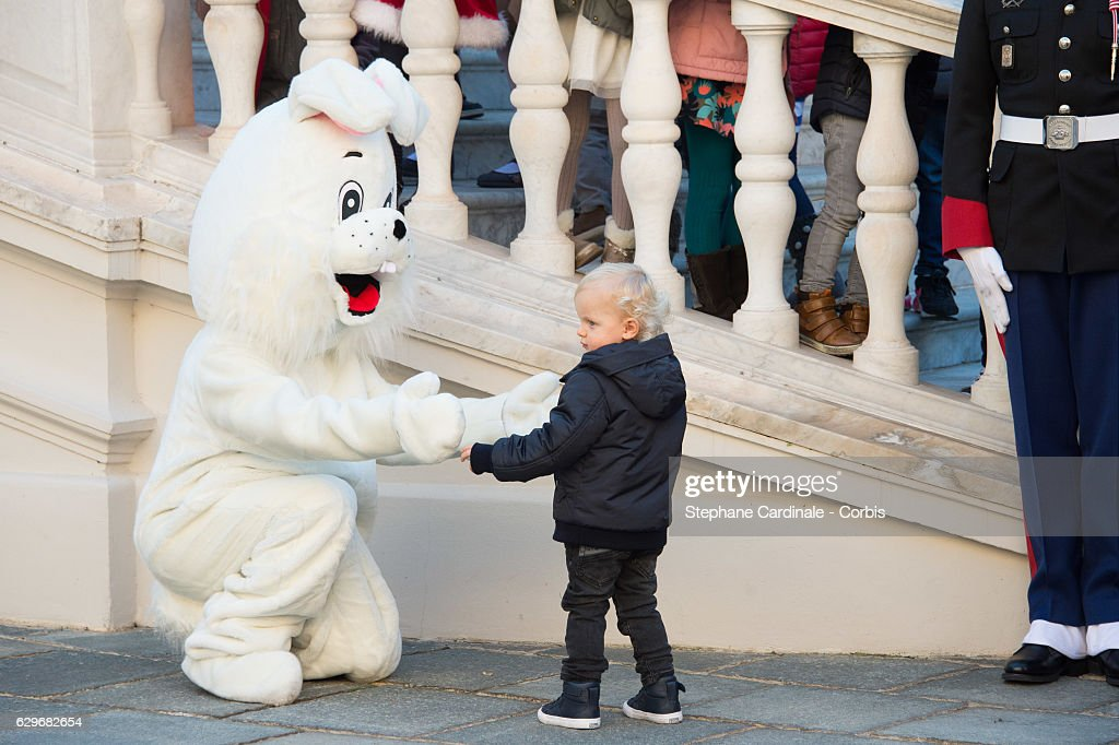 Prince Jacques of Monaco attends the Christmas Gifts Distribution At Monaco Palace on December 14, 2016 in Monaco, Monaco.