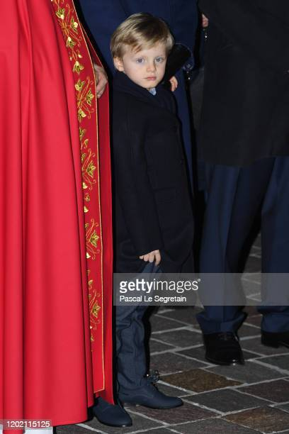 Prince Jacques of Monaco attends the Sainte Devote Ceremony. Sainte devote is the patron saint of The Principality Of Monaco and France's...