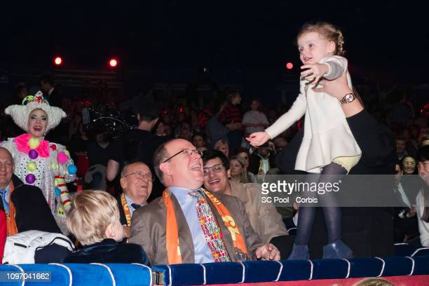 Prince Jacques of Monaco Prince Albert II of Monaco and Princess Gabriella of Monaco attend the 43rd International Circus Festival of MonteCarlo on...
