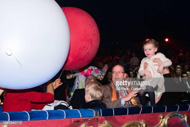 Prince Jacques of Monaco Prince Albert II of Monaco and Princess Gabriella of Monaco attend the 43rd International Circus Festival of MonteCarlo on...