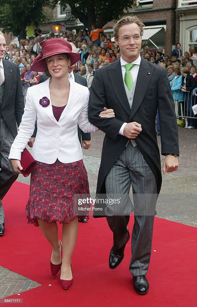 Church Wedding Of Dutch Prince Pieter-Christiaan & Anita Van Eijk : News Photo