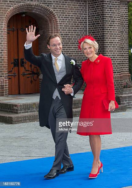 Prince Jaime de Bourbon Parme and Priness Irene of The Netherlands arrve for his wedding with Viktoria Cservenyak at The Church Of Our Lady At...