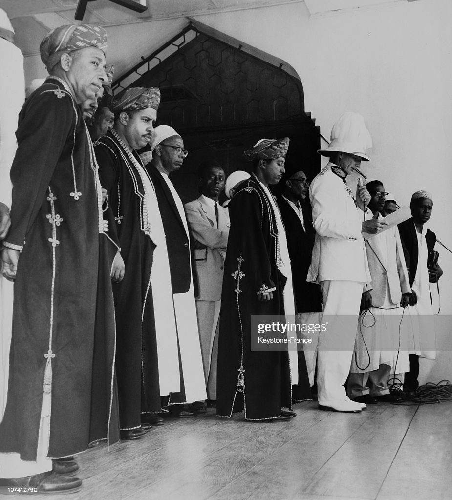 Prince Jamshed Proclamation As Sultan Of Zanzibar On July 4Th 1963. : Photo d'actualité