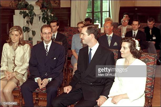 Prince Jean de France cancels plans to wed Duchess Tatiana Von Oldenburg In Dreux, France On June 19, 1999 - Wedding of Eudes de France and...