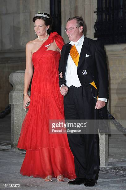 Prince Jean de Luxembourg and Countess Diane de Nassau attend the Gala dinner for the wedding of Prince Guillaume Of Luxembourg and Stephanie de...
