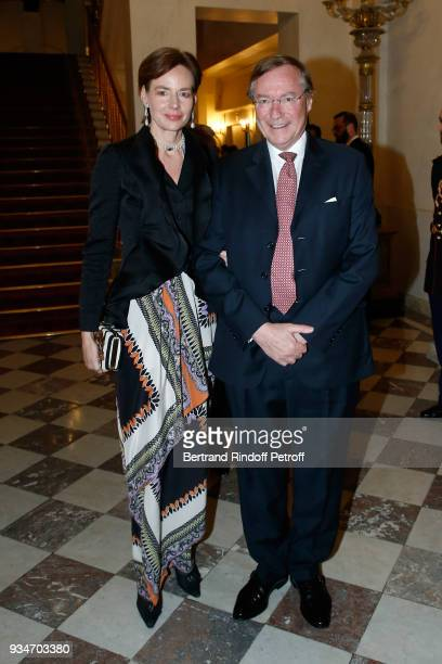 Prince Jean de Luxembourg and his wife Diane attend the State Visit in France of GrandDuc Henri and GrandeDuchesse Maria Teresa of Luxembourg State...