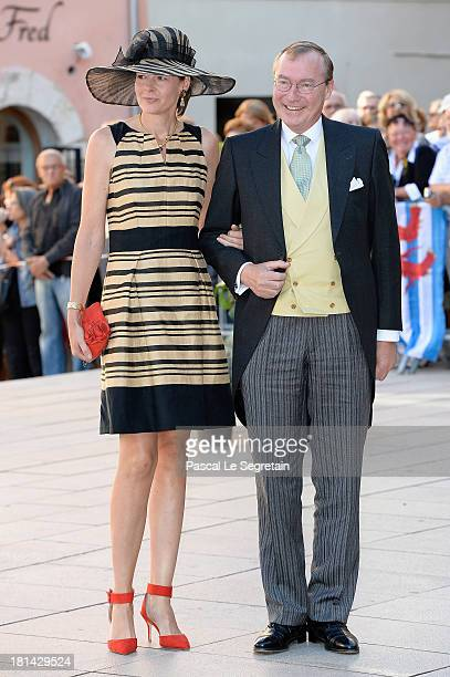 Prince Jean Of Luxembourg and Countess Diane Of Nassau attend the Religious Wedding Of Prince Felix Of Luxembourg and Claire Lademacher at the...