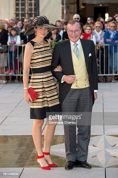 Prince Jean Of Luxembourg and Countess Diane Of Nassau attend the Religious Wedding Of Prince Felix Of Luxembourg and Claire Lademacher at the Ba En...