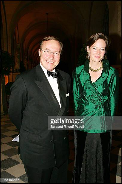Prince Jean of Luxembourg and Diane De Guerre party to the benefit of the artworks of the Sovereign Order of Malta in Lebanon at the Royal opera of...