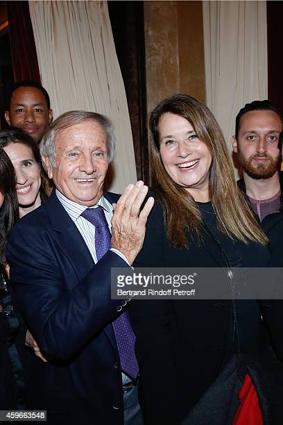 Prince Jean Poniatowski and Actress Lorraine Bracco attend the 37th Writers Cocktail organized by Circle Maxim's Business Club in Fairs Fouquet's on...