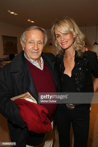 Prince Jean Poniatowski and Laetitia Halliday attend the New Jewellery Collection Cocktail Party At Avenue Montaigne In Paris on November 12 2014 in...