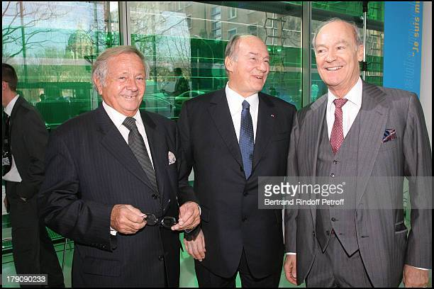 Prince Jean Poniatowski Prince Karim Aga Khan and Prince Amin Aga Khan at Pompidou Foundation Award Ceremony For The Chevalier de la Legion d'Honneur...