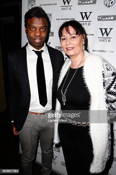 Prince JeanBarthelemy Bokassa and Producer Elisabeth Deshayes attend the Launch of Kelly Vedoveli's blog at Bridge Club on January 7 2016 in Paris...