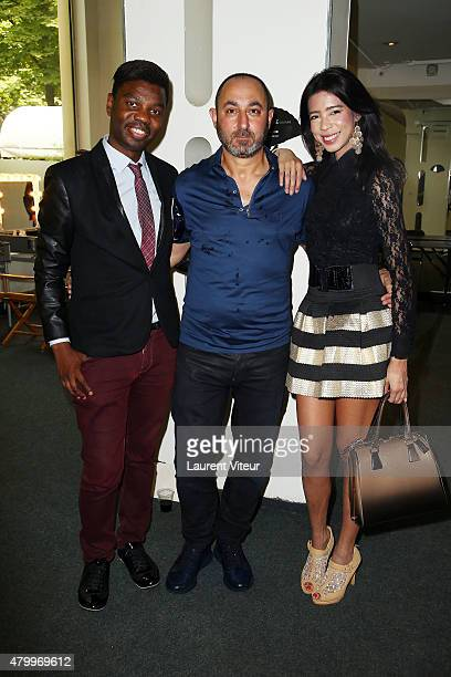 Prince JeanBarthelemy Bokassa Designer Dany Atrache and Model Vanessa Modely attend the Danny Atrache show as part of Paris Fashion Week Haute...